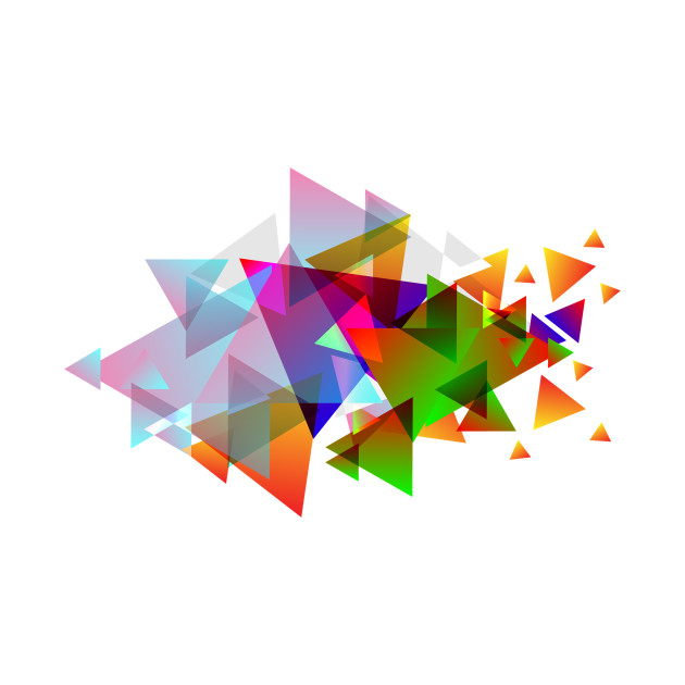triangle art piece